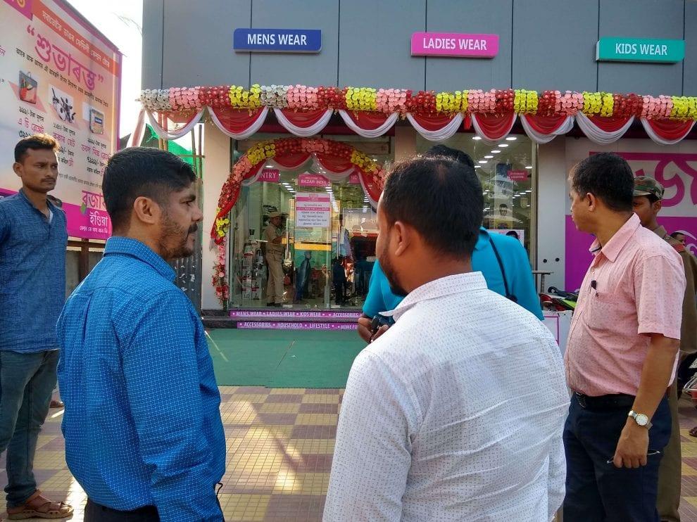 মঙ্গলদৈয়ে 'বাজার ইন্ডিয়া' শপিং মল সিল করলো প্ৰশাসন