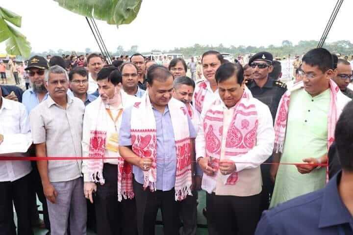 মাজুলিতে 'এম ভি ভূপেন হাজরিকা' নামের অত্যাধুনিক র'র' সেবা উদ্বোধন করলেন সোনোয়াল