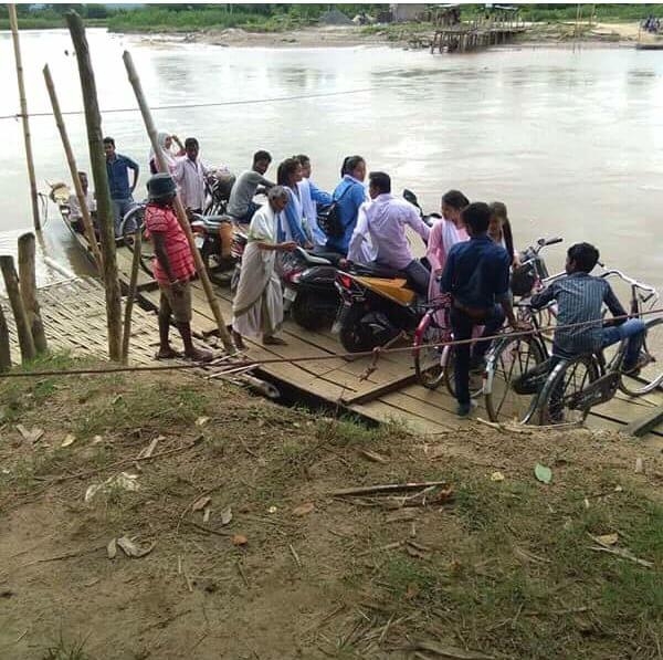শিলনিজানে ধনশিরি নদীর উপর স্থায়ী সেতু নির্মাণের দাবি