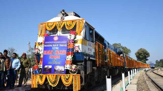 শিলঘাট-নগাঁও-কলকাতা-র মধ্যে কাজিরঙা এক্সপ্ৰেসের যাত্ৰা শুরু হলো