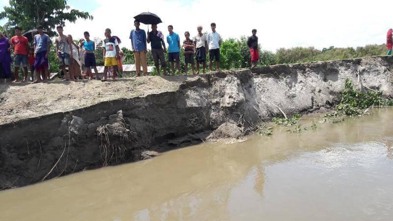 উত্তর লখিমপুর,বিহপুরিয়ায় সুবনশিরির ভাঙন অব্যাহত