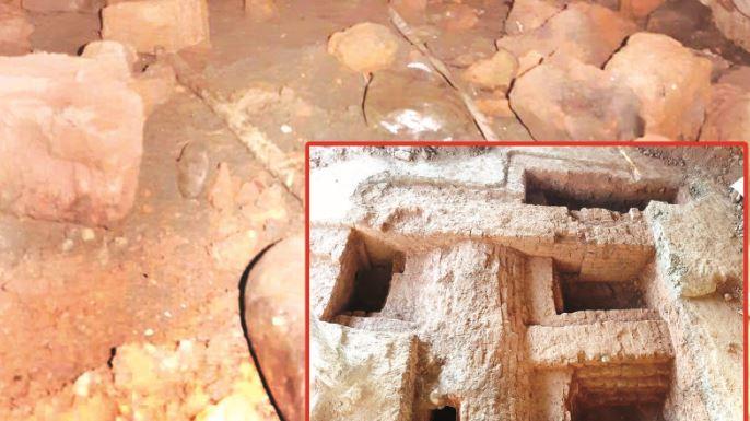 নজিরায় পুরনো দিনের ইটের তৈরি রহস্যজনক সুড়ঙ্গ ও কাঠামো উদ্ধার